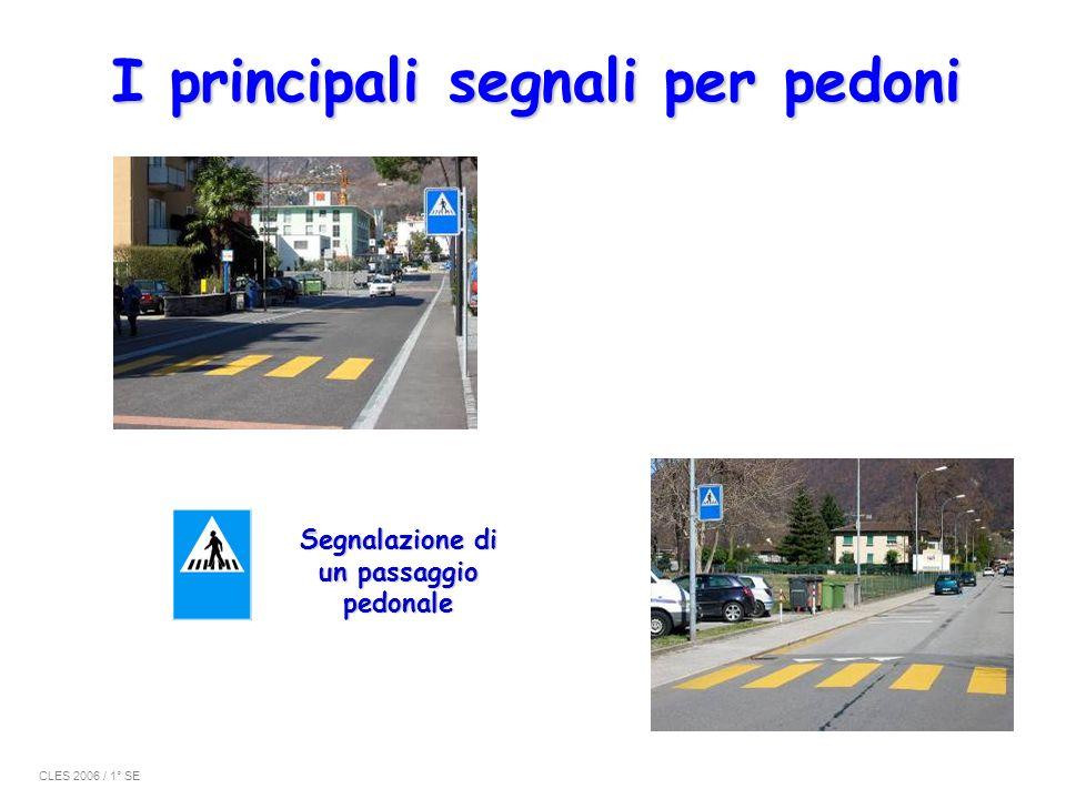 I principali segnali per pedoni Segnalazione di un passaggio pedonale