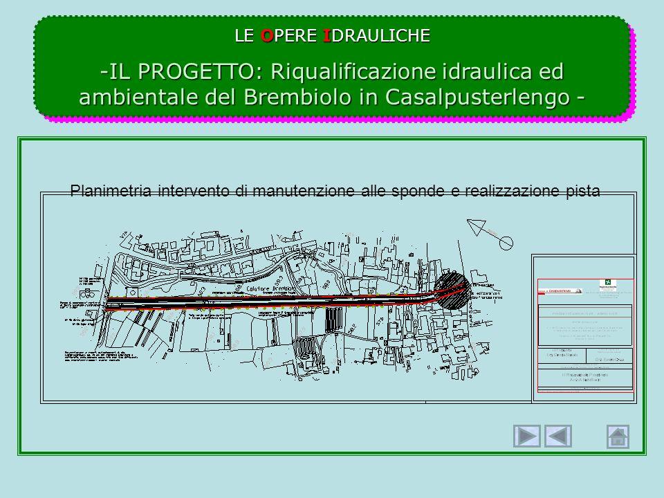 LE OPERE IDRAULICHE IL PROGETTO: Riqualificazione idraulica ed ambientale del Brembiolo in Casalpusterlengo -
