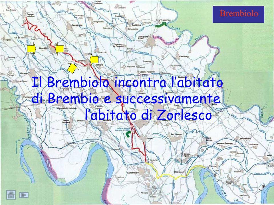 Il Brembiolo incontra l'abitato di Brembio e successivamente