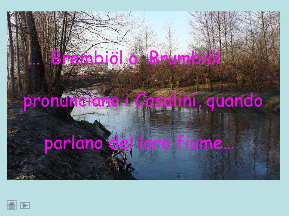 pronunciano i Casalini, quando parlano del loro fiume…