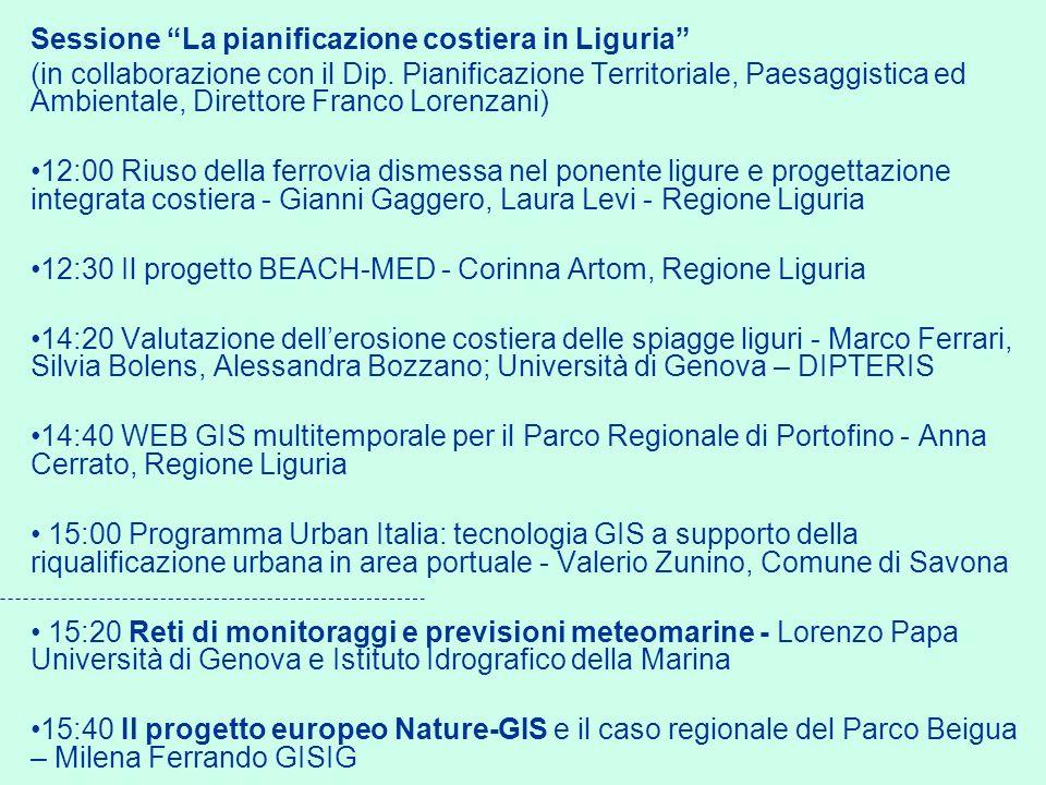Sessione La pianificazione costiera in Liguria