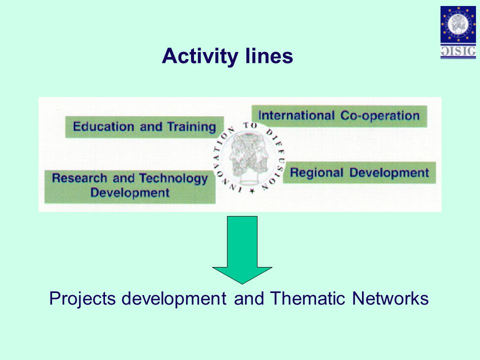 Activity lines Projects development and Thematic Networks
