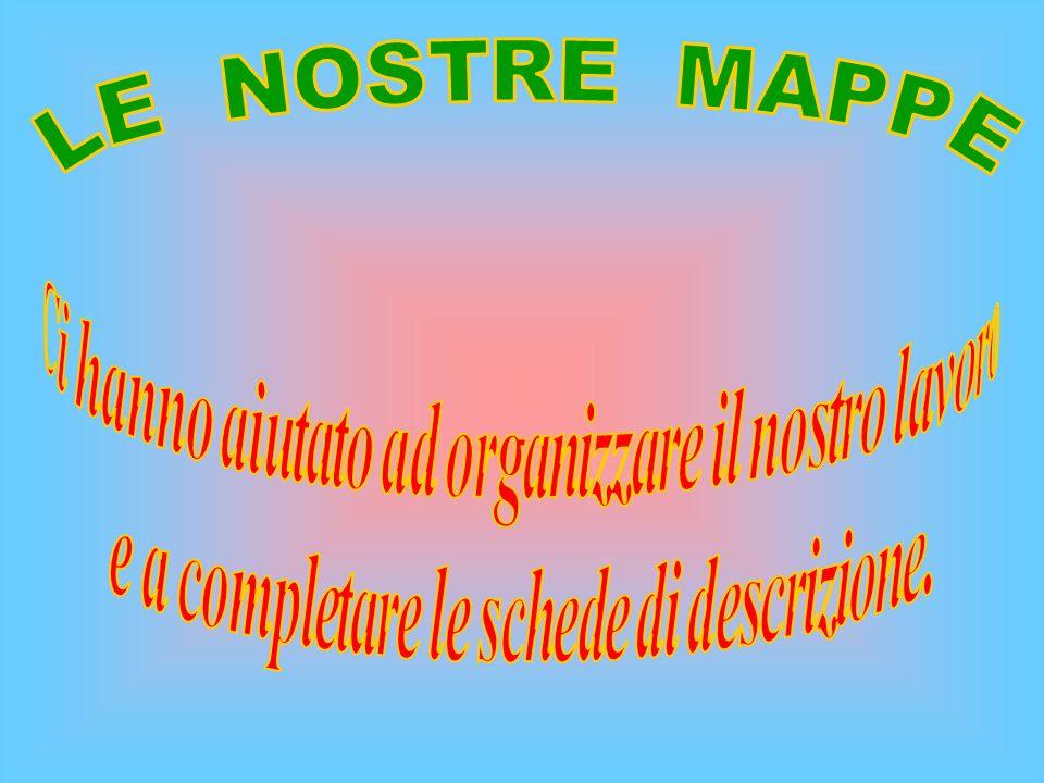 LE NOSTRE MAPPE Ci hanno aiutato ad organizzare il nostro lavoro