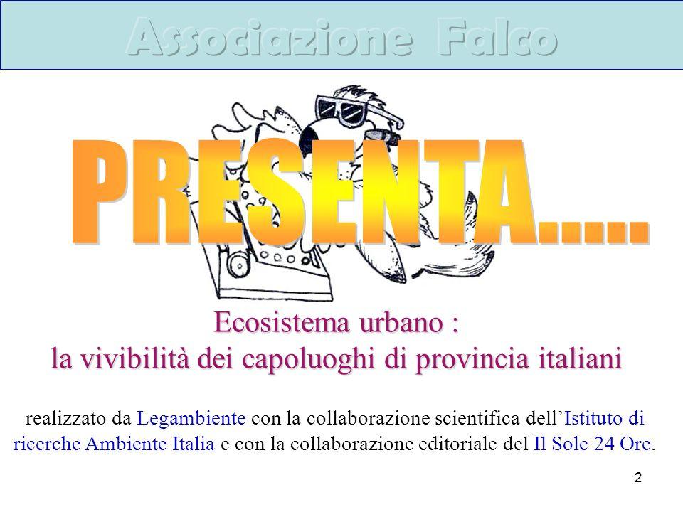 la vivibilità dei capoluoghi di provincia italiani