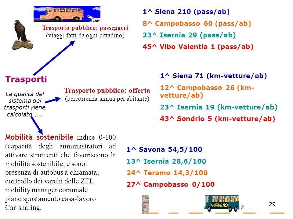 Trasporto pubblico: offerta