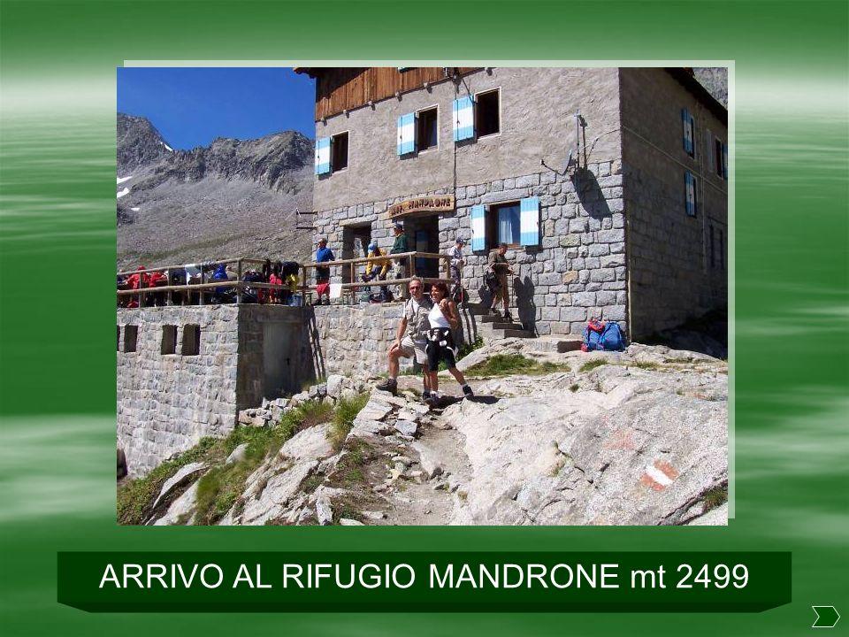 ARRIVO AL RIFUGIO MANDRONE mt 2499