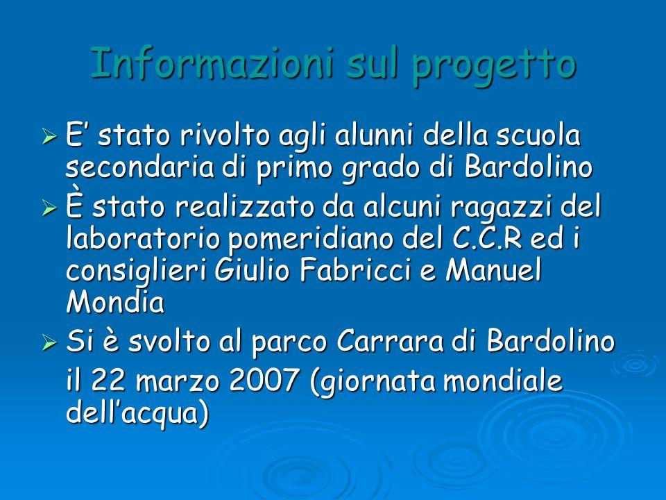 Informazioni sul progetto