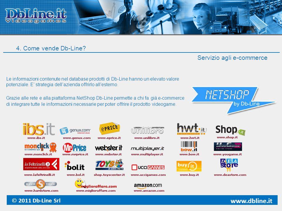 www.dbline.it 4. Come vende Db-Line Servizio agli e-commerce