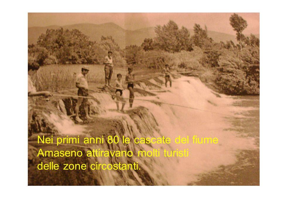 Il fiume Amaseno Nei primi anni 80 le cascate del fiume Amaseno attiravano molti turisti.