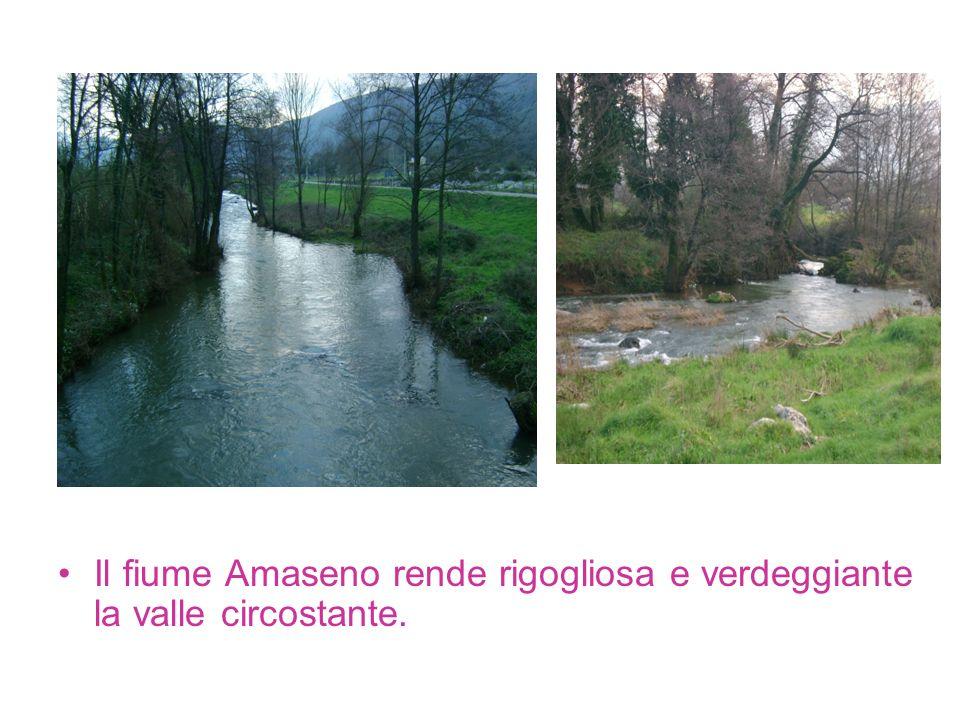 Il fiume Amaseno rende rigogliosa e verdeggiante la valle circostante.