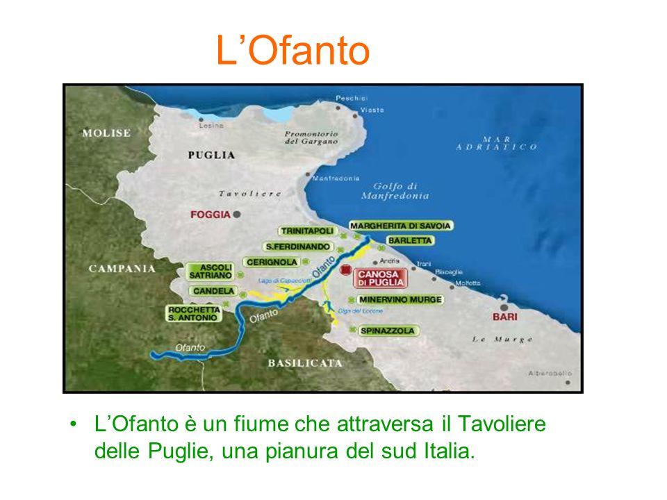 L'Ofanto L'Ofanto è un fiume che attraversa il Tavoliere delle Puglie, una pianura del sud Italia.