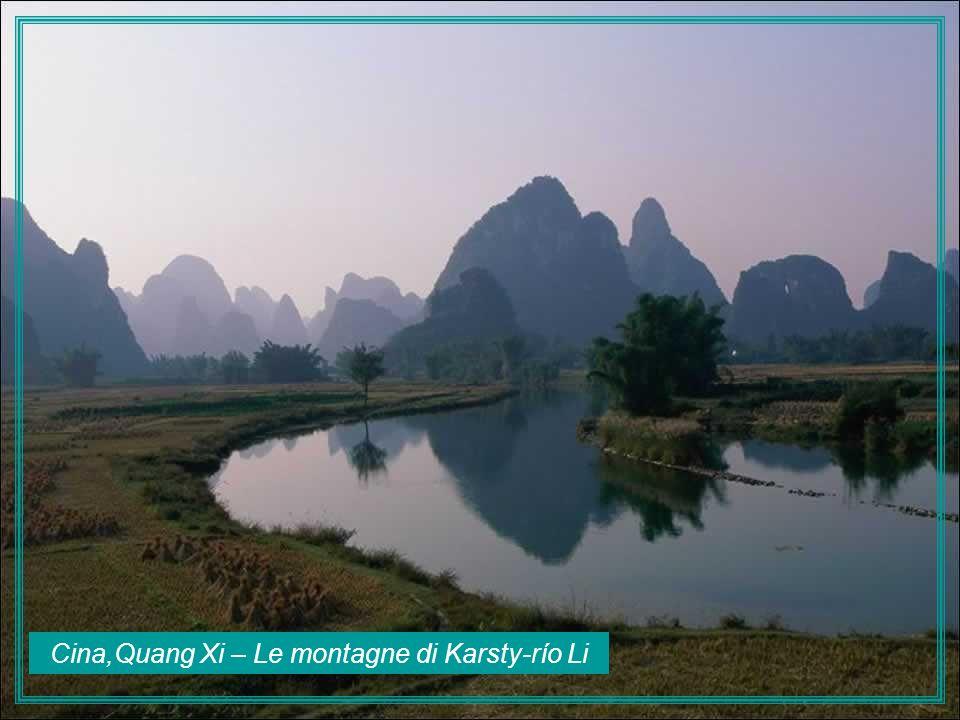 Cina,Quang Xi – Le montagne di Karsty-río Li