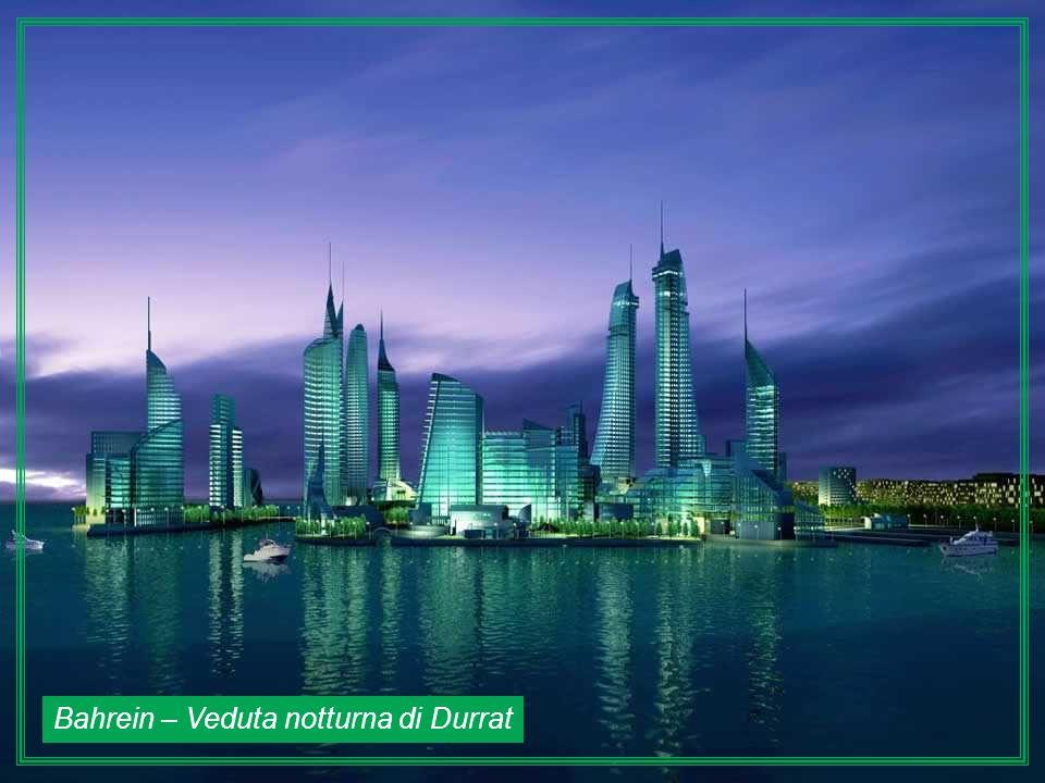 Bahrein – Veduta notturna di Durrat