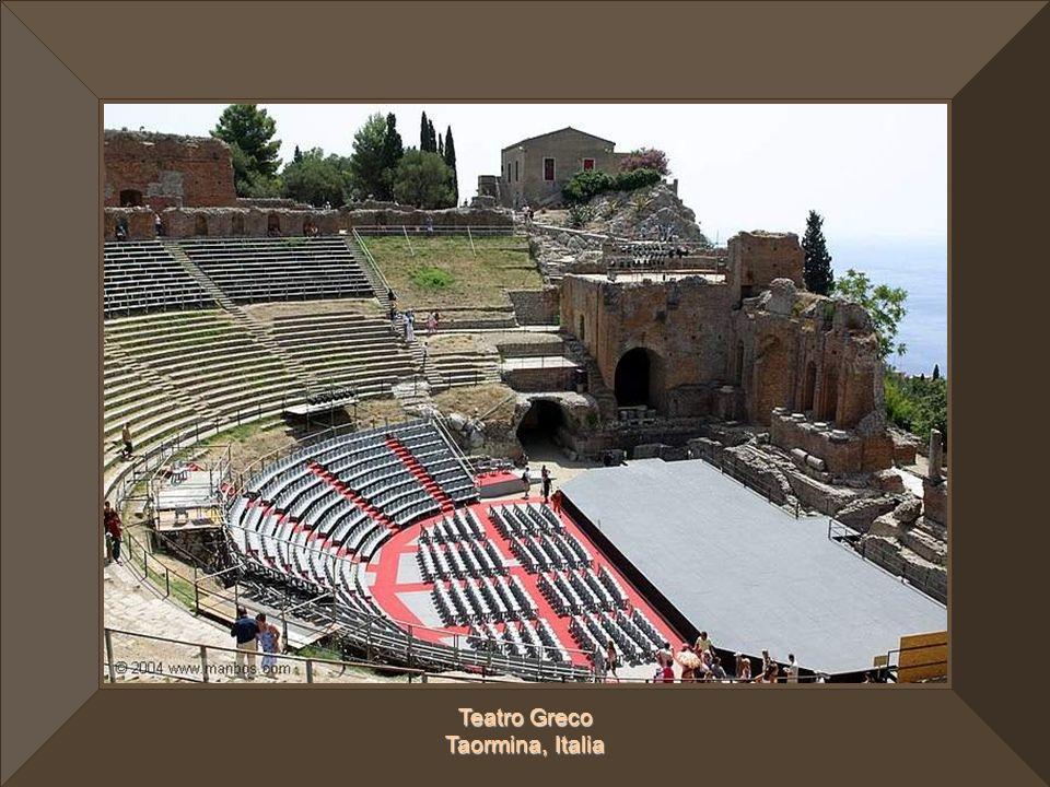 Teatro Greco Taormina, Italia