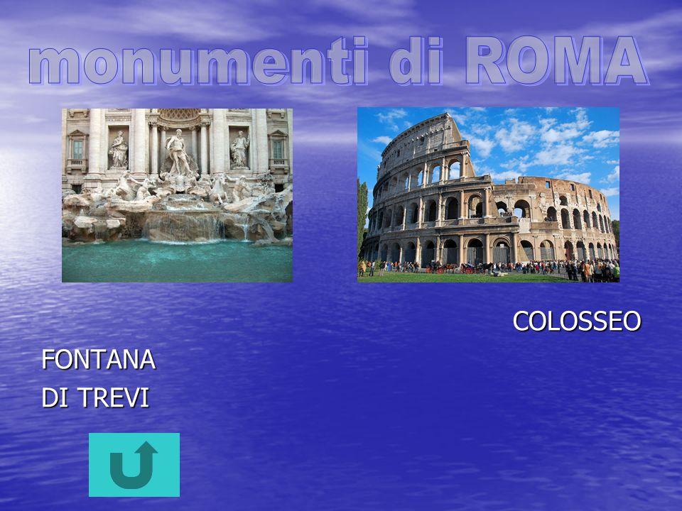 monumenti di ROMA COLOSSEO FONTANA DI TREVI