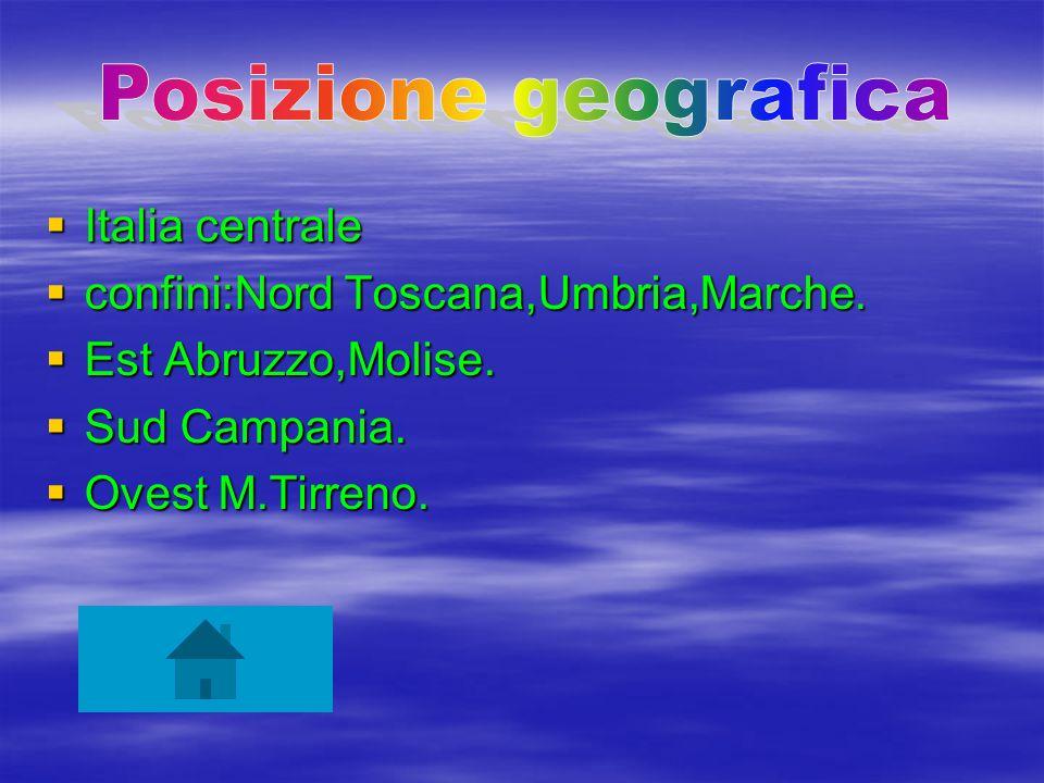 Posizione geografica Italia centrale