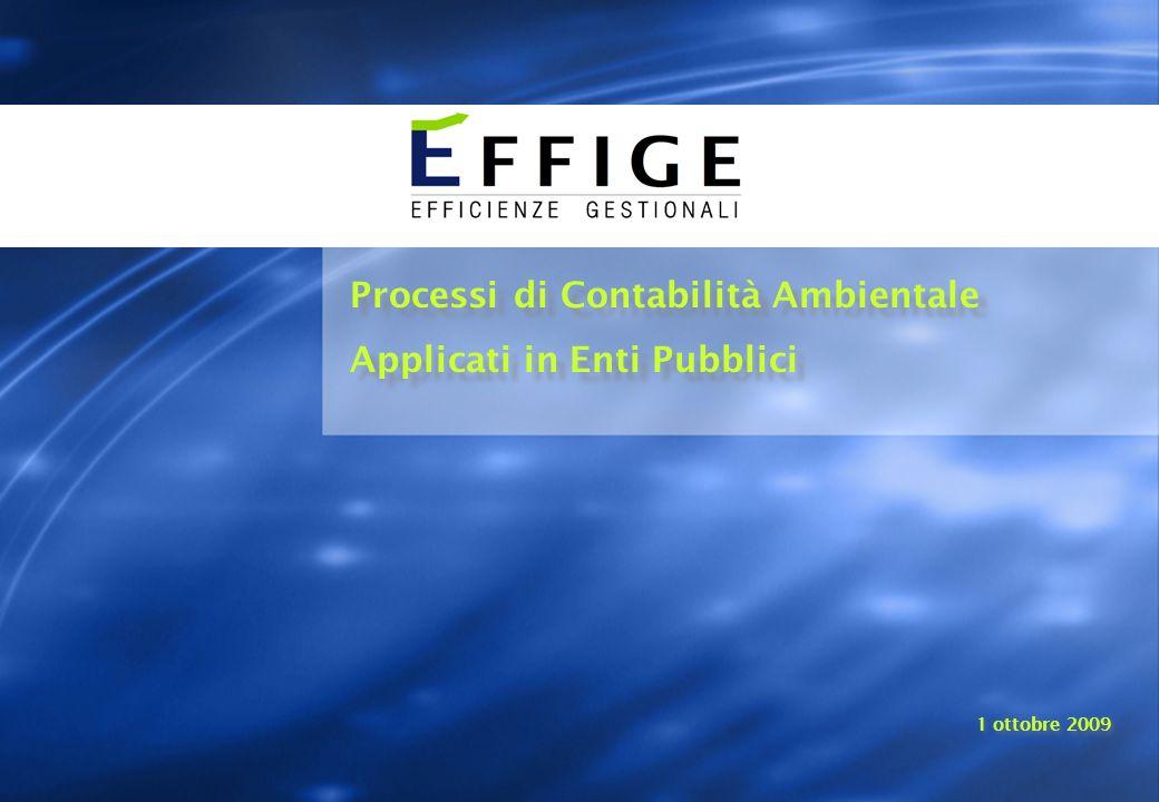 Processi di Contabilità Ambientale Applicati in Enti Pubblici