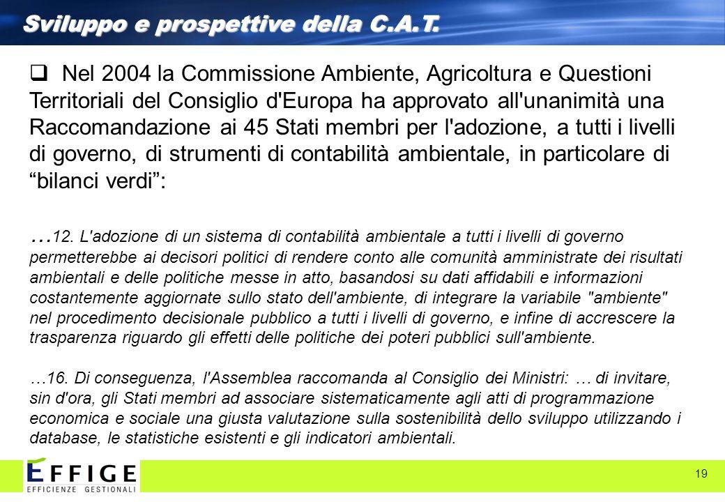 Sviluppo e prospettive della C.A.T.