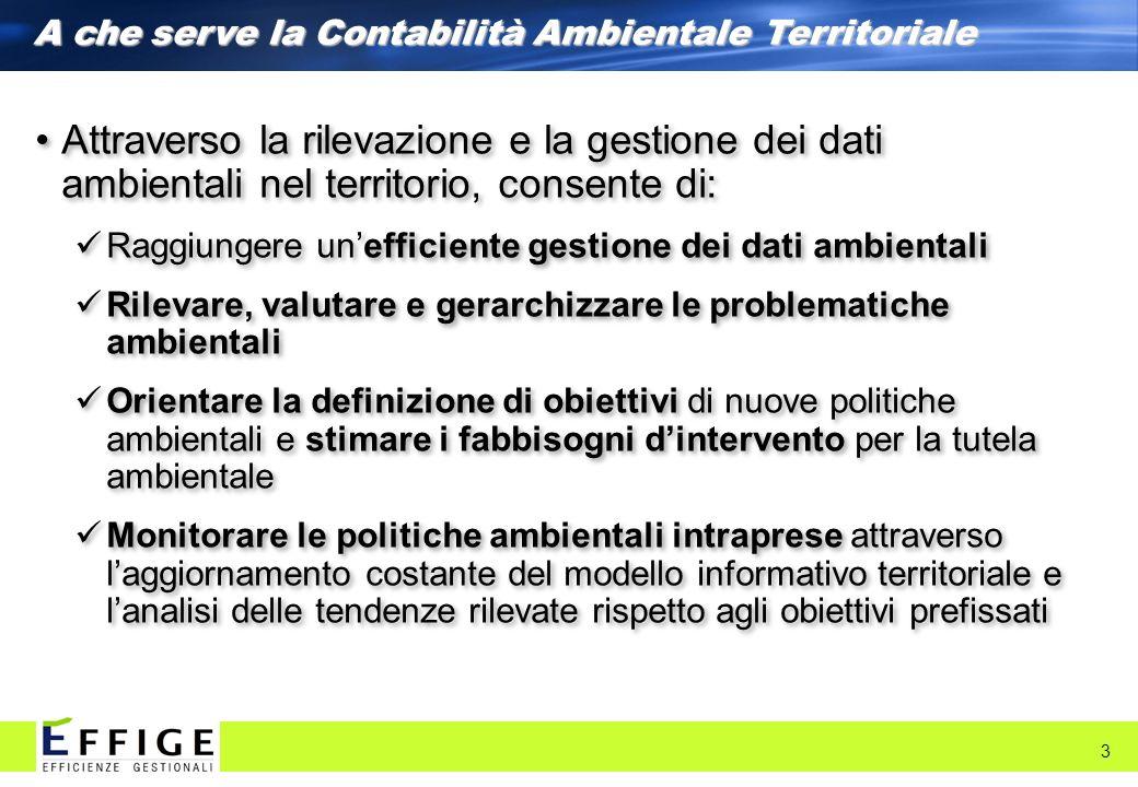 A che serve la Contabilità Ambientale Territoriale