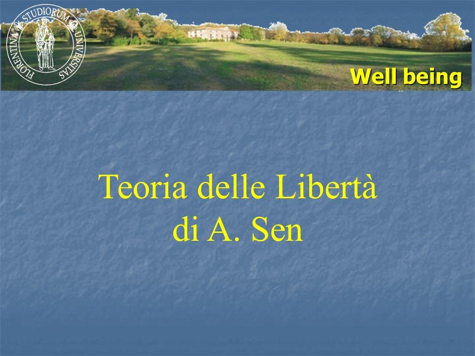 Well being Teoria delle Libertà di A. Sen