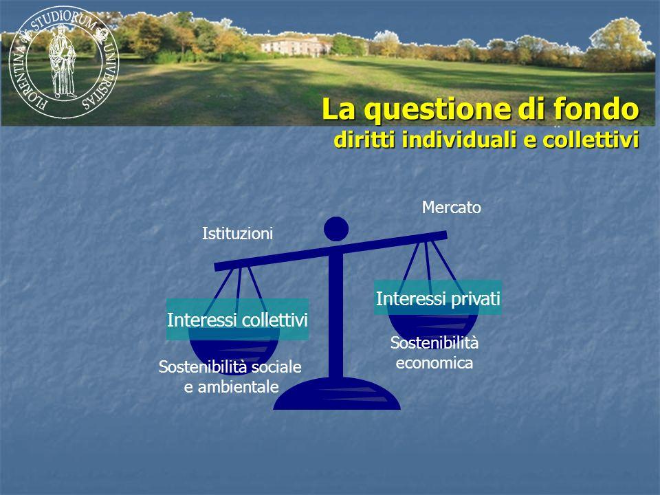 La questione di fondo diritti individuali e collettivi