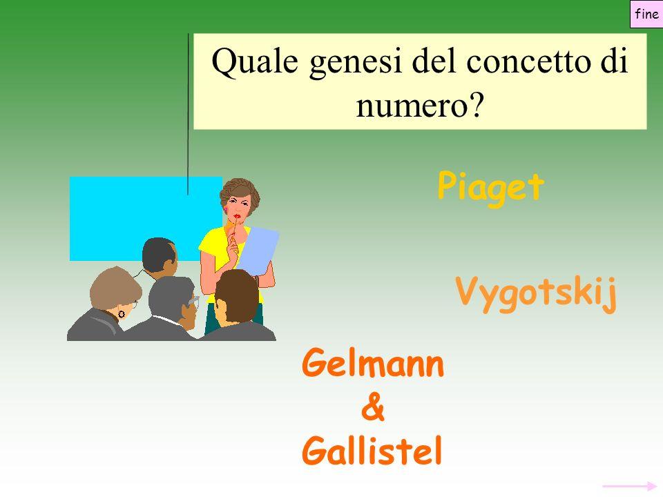 Quale genesi del concetto di numero