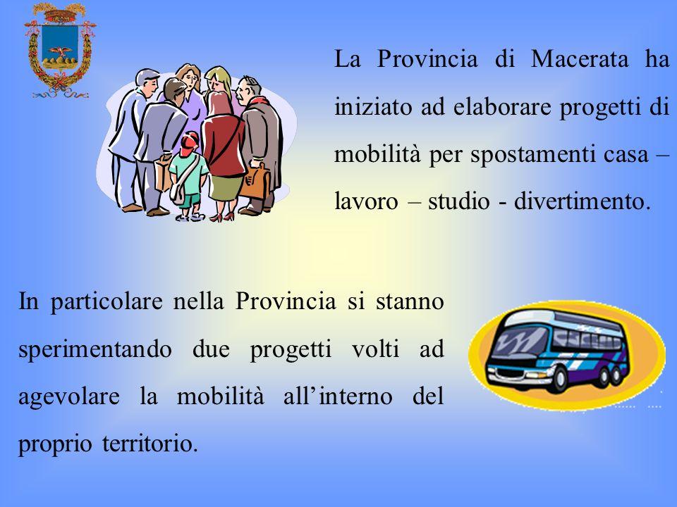 La Provincia di Macerata ha iniziato ad elaborare progetti di mobilità per spostamenti casa – lavoro – studio - divertimento.