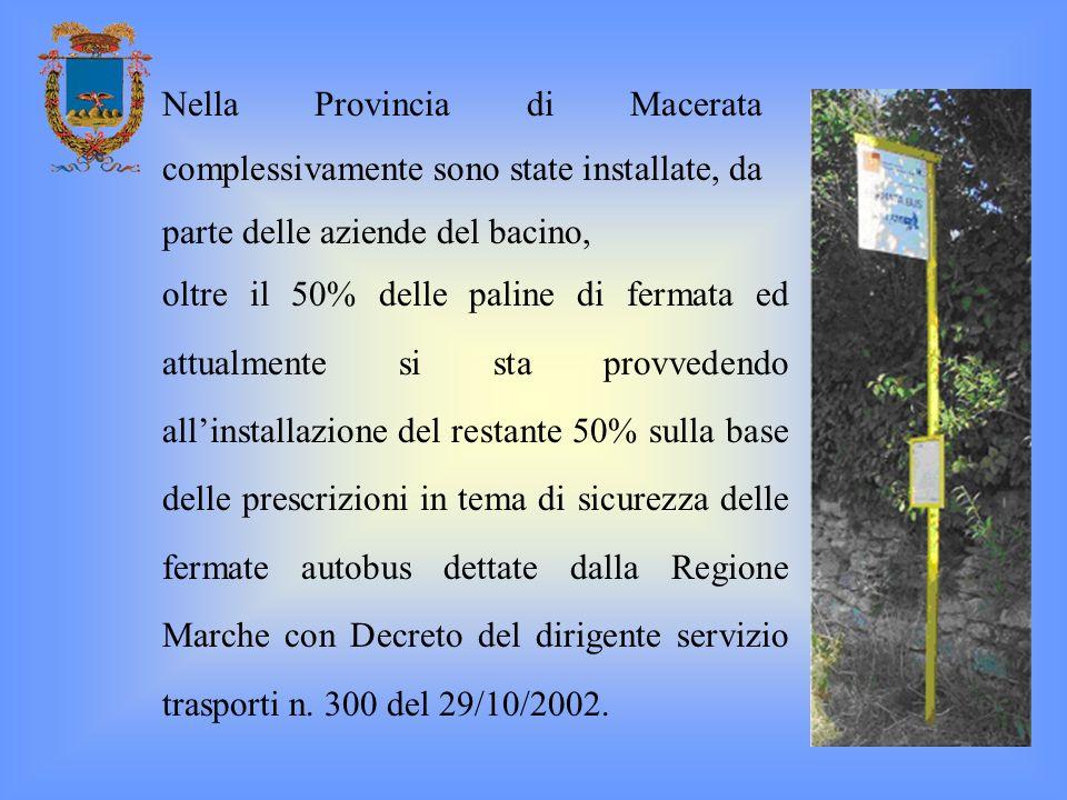 Nella Provincia di Macerata complessivamente sono state installate, da parte delle aziende del bacino,