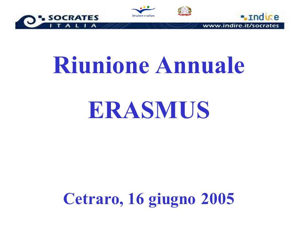 Riunione Annuale ERASMUS