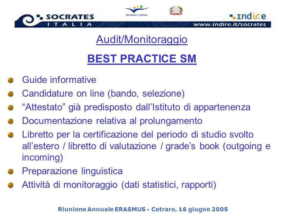 Riunione Annuale ERASMUS - Cetraro, 16 giugno 2005