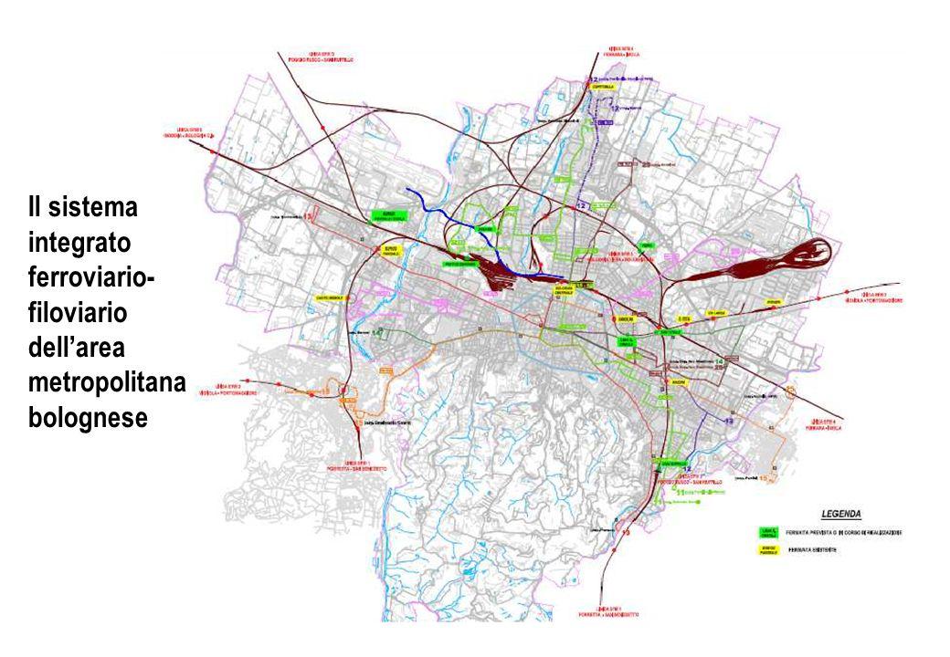 Il sistema integrato ferroviario-filoviario dell'area metropolitana bolognese