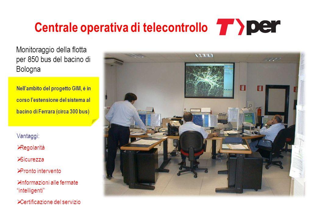 Centrale operativa di telecontrollo