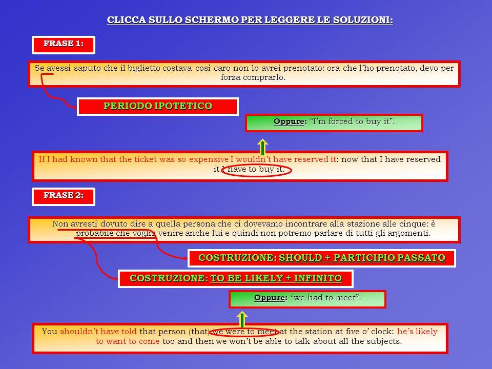 CLICCA SULLO SCHERMO PER LEGGERE LE SOLUZIONI: