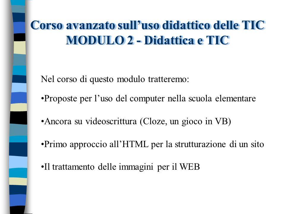 Corso avanzato sull'uso didattico delle TIC MODULO 2 - Didattica e TIC