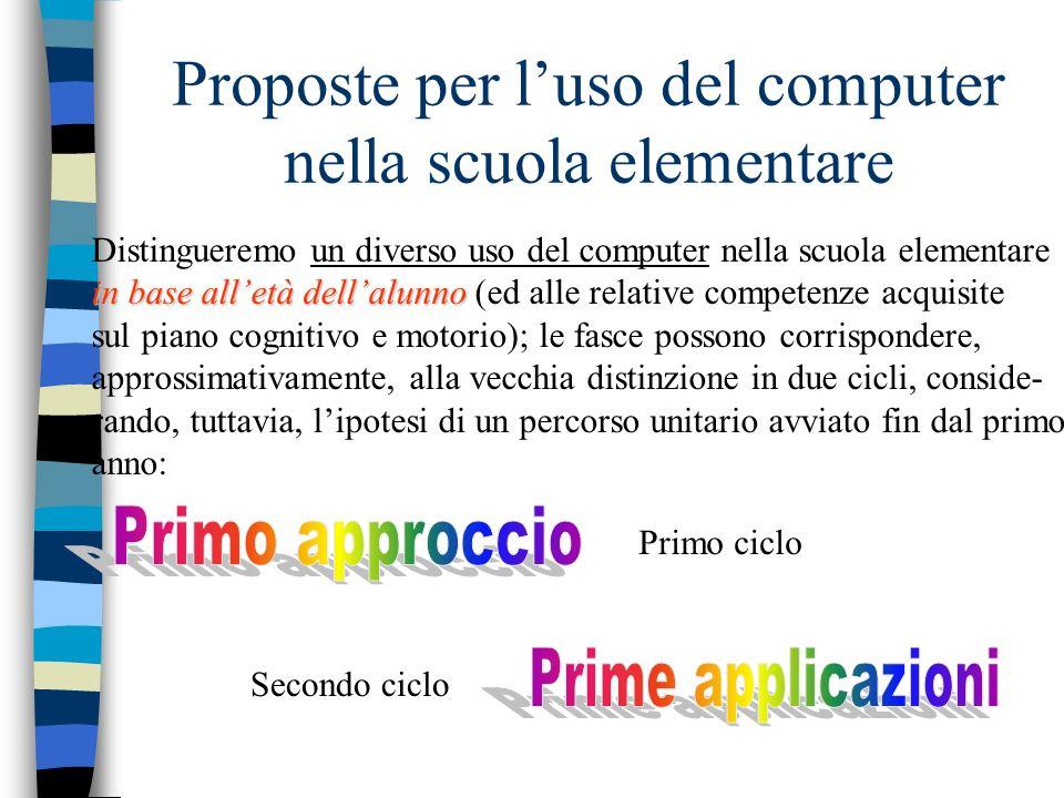 Proposte per l'uso del computer nella scuola elementare