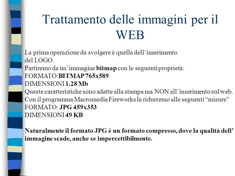 Trattamento delle immagini per il WEB