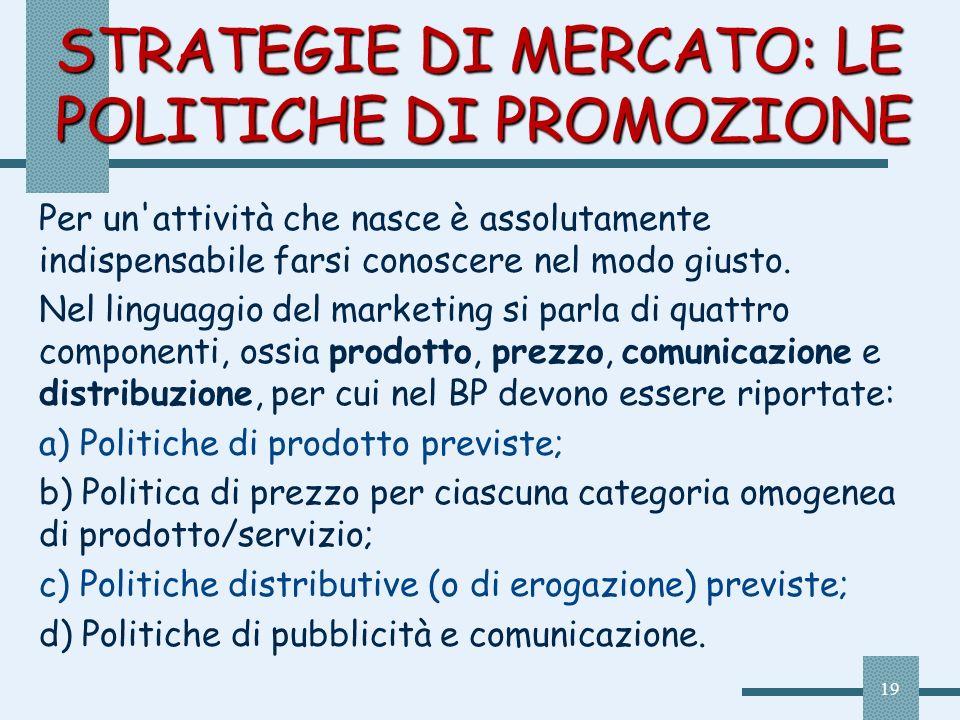STRATEGIE DI MERCATO: LE POLITICHE DI PROMOZIONE