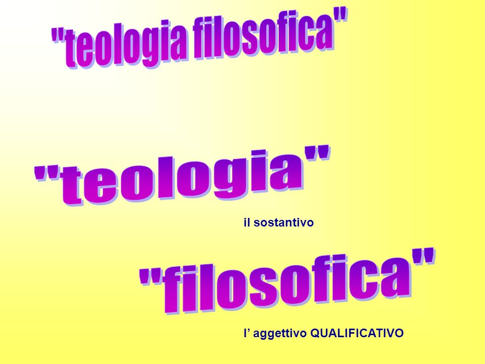 teologia filosofica teologia filosofica il sostantivo