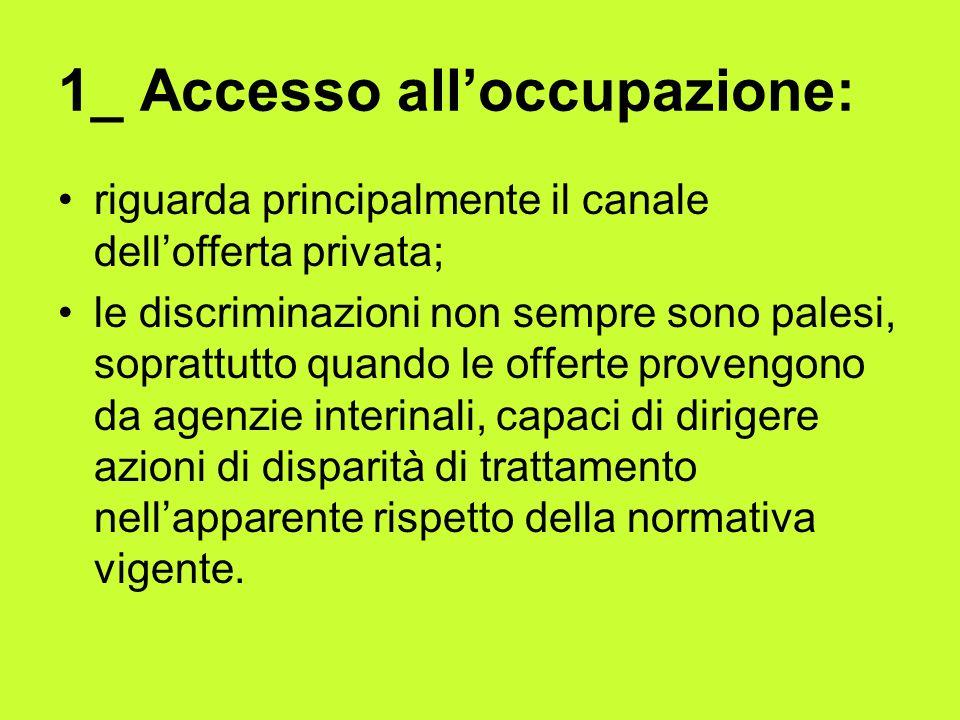 1_ Accesso all'occupazione: