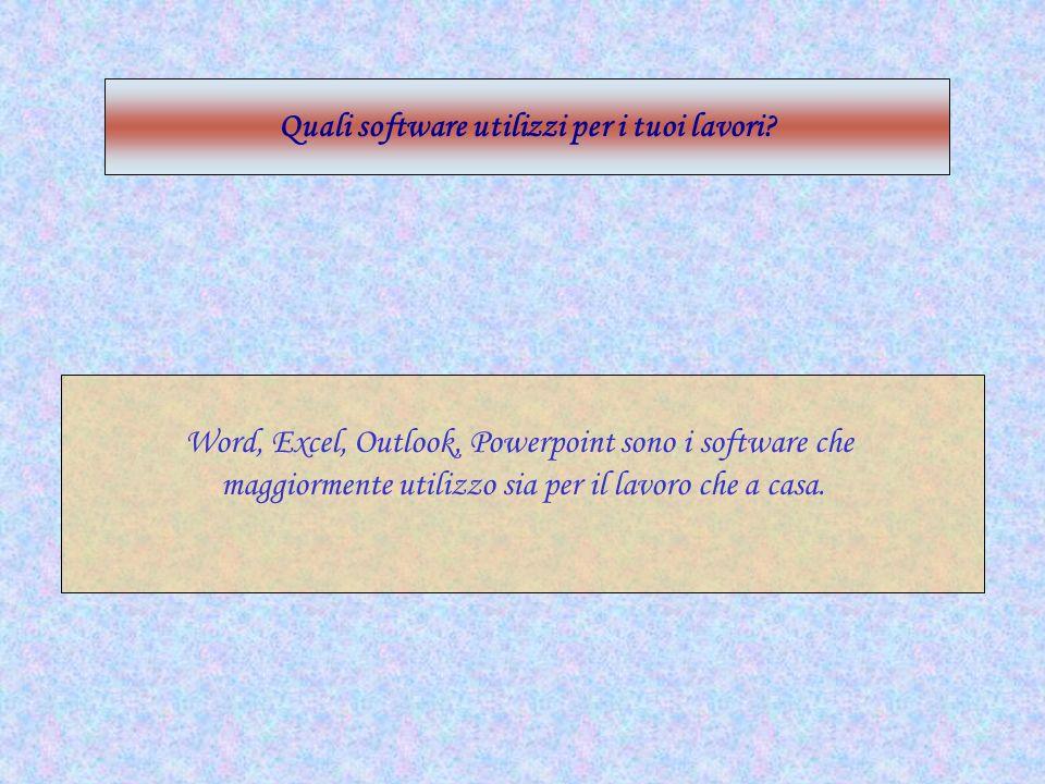 Quali software utilizzi per i tuoi lavori