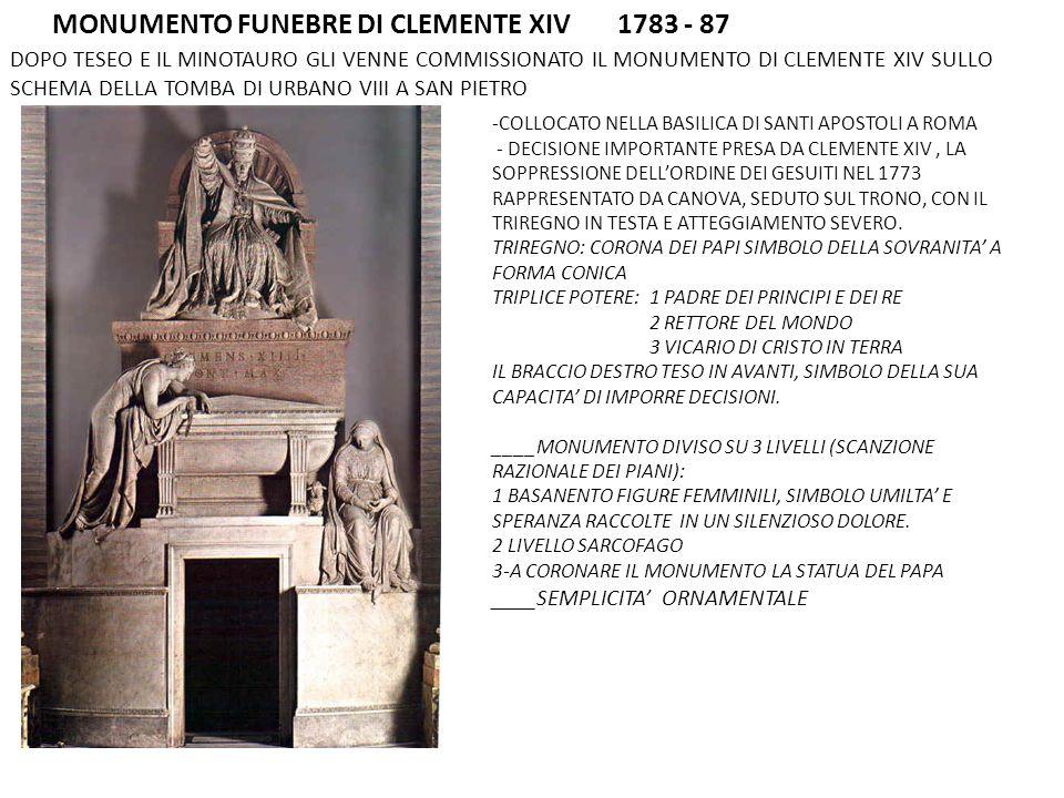 MONUMENTO FUNEBRE DI CLEMENTE XIV 1783 - 87
