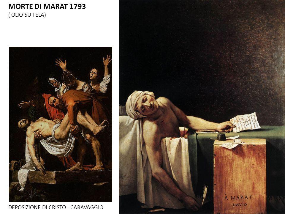 MORTE DI MARAT 1793 ( OLIO SU TELA)