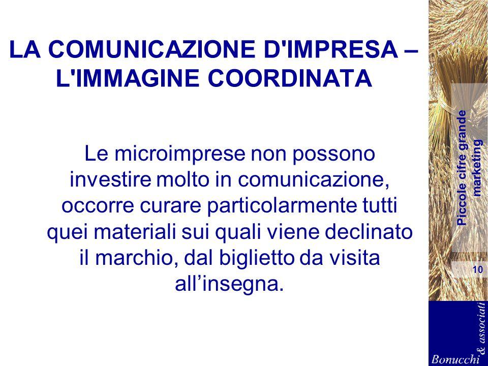 LA COMUNICAZIONE D IMPRESA – L IMMAGINE COORDINATA