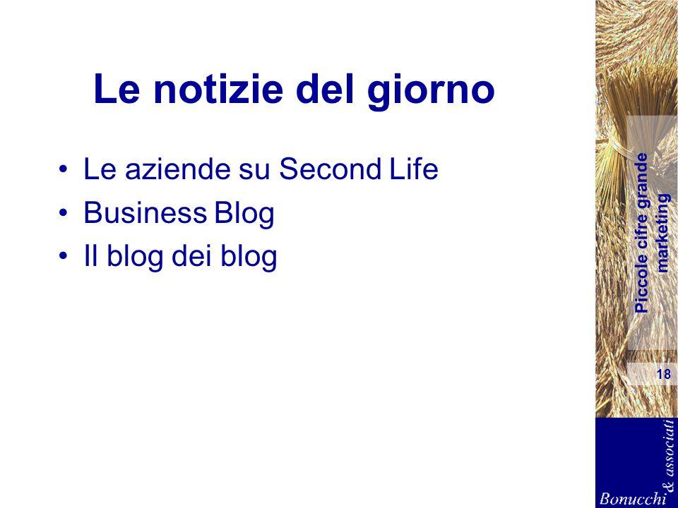 Le notizie del giorno Le aziende su Second Life Business Blog