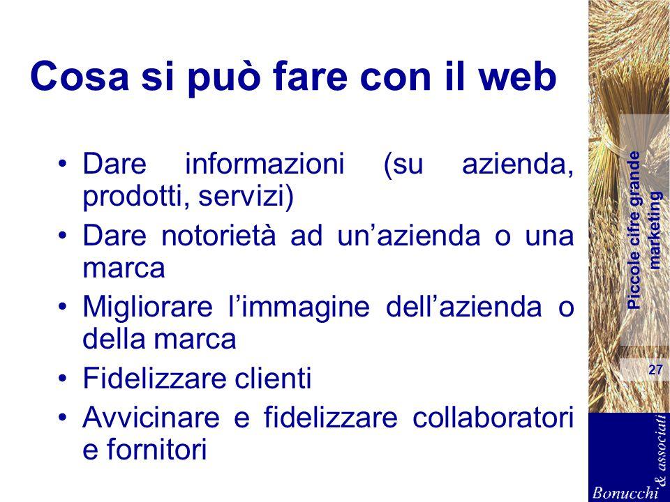 Cosa si può fare con il web