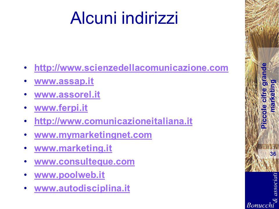 Alcuni indirizzi http://www.scienzedellacomunicazione.com www.assap.it