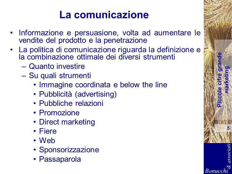 La comunicazione Informazione e persuasione, volta ad aumentare le vendite del prodotto e la penetrazione.