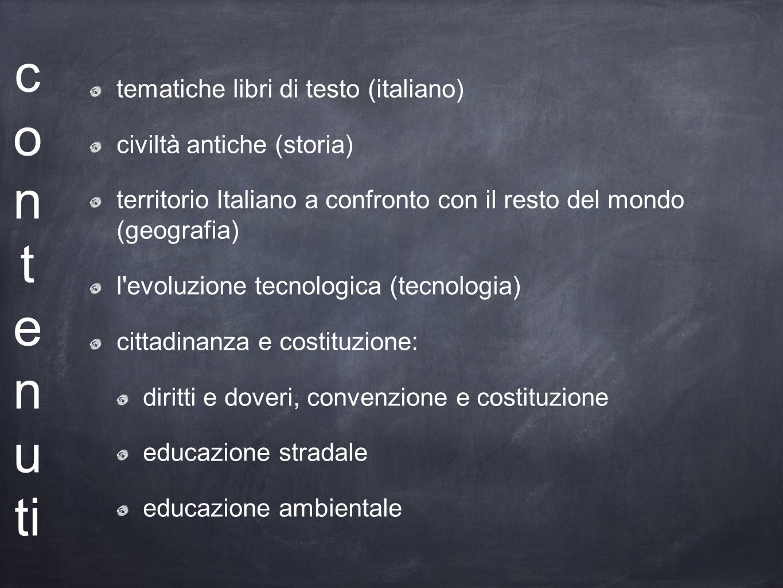 contenuti tematiche libri di testo (italiano) civiltà antiche (storia)