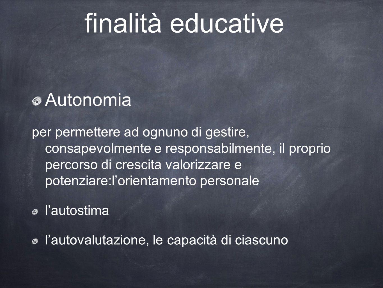finalità educative Autonomia