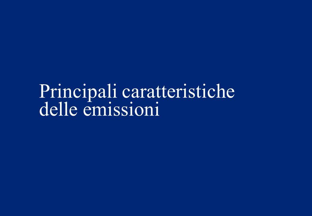 Principali caratteristiche delle emissioni